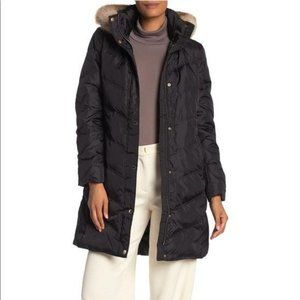 MICHAEL Michael Kors Mid Thigh Length Faux Fur Trim Quilted Down Jacket NWT